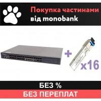 OLT P3616-2TE-AC/DC и 16 SFP - рассрочка Monobank