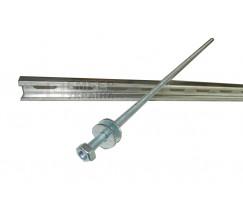 Комплект крепления на опору (траверса оцинкованная 1.2 мм, шпилька, 2 гайки, 2 шайбы)